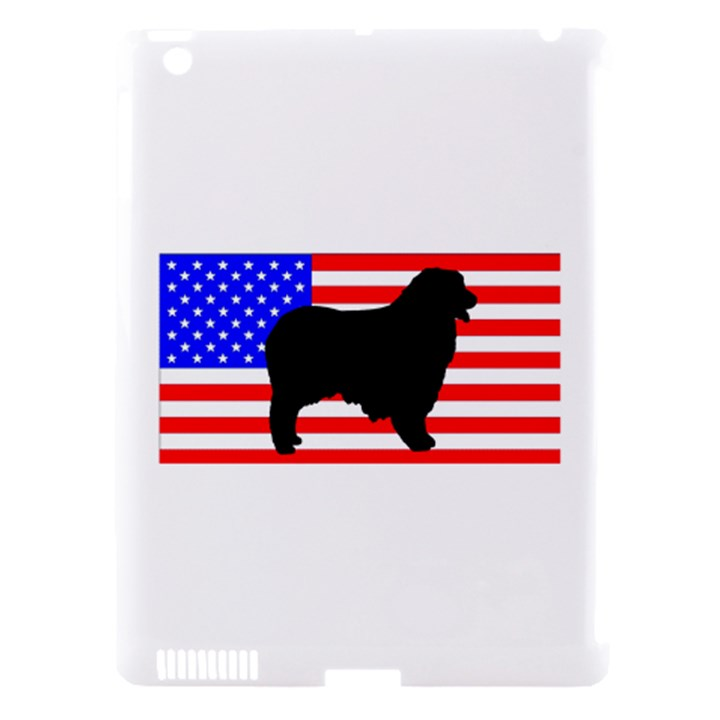 Australian Shepherd Silo Usa Flag Apple iPad 3/4 Hardshell Case (Compatible with Smart Cover)