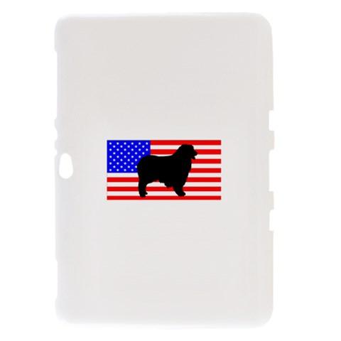 Australian Shepherd Silo Usa Flag Samsung Galaxy Tab 8.9  P7300 Hardshell Case