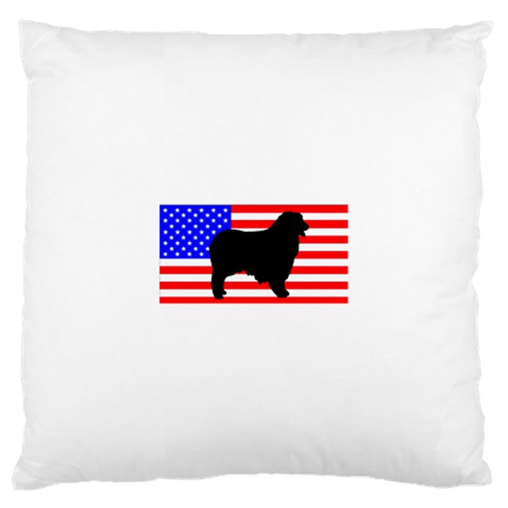Australian Shepherd Silo Usa Flag Large Cushion Case (Two Sides)