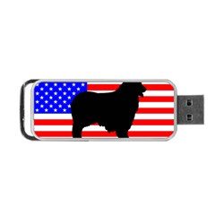 Australian Shepherd Silo Usa Flag Portable Usb Flash (one Side)