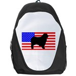 Australian Shepherd Silo Usa Flag Backpack Bag Front