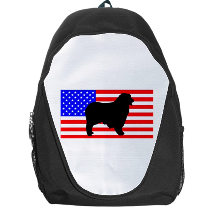 Australian Shepherd Silo Usa Flag Backpack Bag