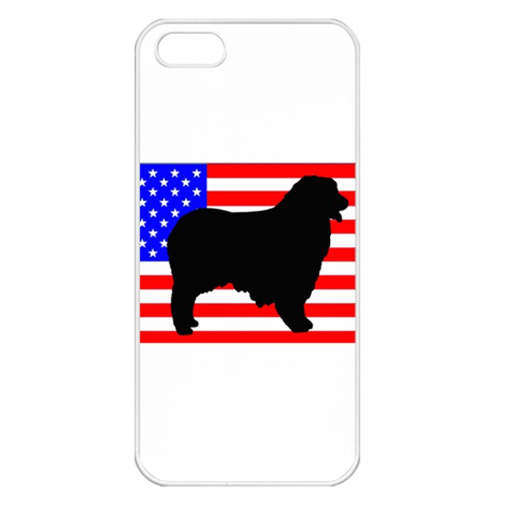 Australian Shepherd Silo Usa Flag Apple iPhone 5 Seamless Case (White)