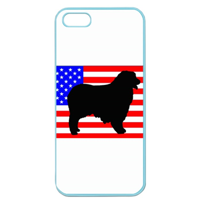 Australian Shepherd Silo Usa Flag Apple Seamless iPhone 5 Case (Color)