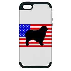 Australian Shepherd Silo Usa Flag Apple iPhone 5 Hardshell Case (PC+Silicone)