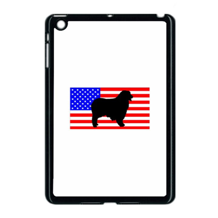 Australian Shepherd Silo Usa Flag Apple iPad Mini Case (Black)