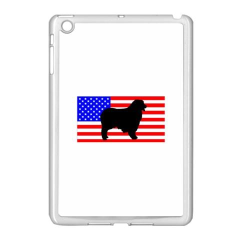 Australian Shepherd Silo Usa Flag Apple iPad Mini Case (White)