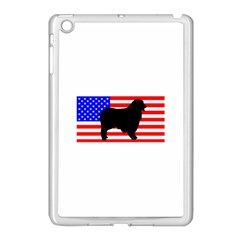 Australian Shepherd Silo Usa Flag Apple iPad Mini Case (White)