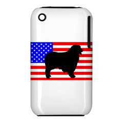 Australian Shepherd Silo Usa Flag Apple iPhone 3G/3GS Hardshell Case (PC+Silicone)