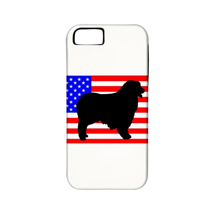 Australian Shepherd Silo Usa Flag Apple iPhone 5 Classic Hardshell Case (PC+Silicone)
