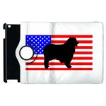 Australian Shepherd Silo Usa Flag Apple iPad 2 Flip 360 Case Front
