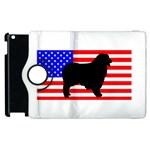 Australian Shepherd Silo Usa Flag Apple iPad 3/4 Flip 360 Case Front