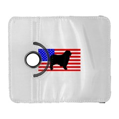 Australian Shepherd Silo Usa Flag Samsung Galaxy S  III Flip 360 Case