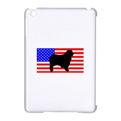 Australian Shepherd Silo Usa Flag Apple iPad Mini Hardshell Case (Compatible with Smart Cover)