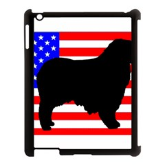 Australian Shepherd Silo Usa Flag Apple iPad 3/4 Case (Black)