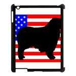 Australian Shepherd Silo Usa Flag Apple iPad 3/4 Case (Black) Front