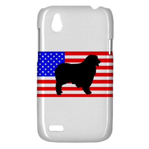 Australian Shepherd Silo Usa Flag HTC Desire V (T328W) Hardshell Case