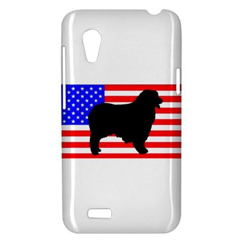 Australian Shepherd Silo Usa Flag HTC Desire VT (T328T) Hardshell Case