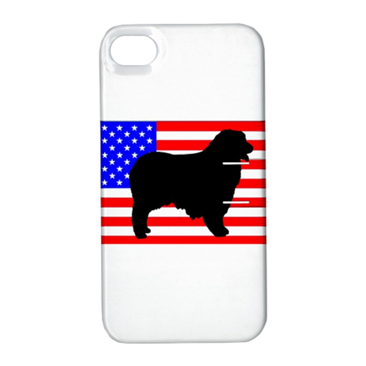 Australian Shepherd Silo Usa Flag Apple iPhone 4/4S Hardshell Case with Stand