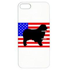 Australian Shepherd Silo Usa Flag Apple iPhone 5 Hardshell Case with Stand