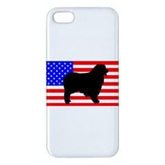 Australian Shepherd Silo Usa Flag Apple iPhone 5 Premium Hardshell Case