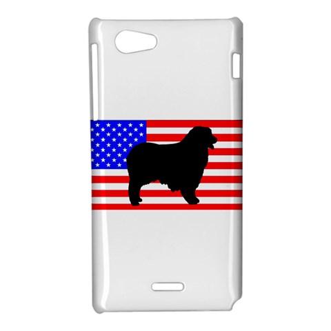 Australian Shepherd Silo Usa Flag Sony Xperia J