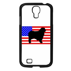 Australian Shepherd Silo Usa Flag Samsung Galaxy S4 I9500/ I9505 Case (Black)