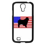 Australian Shepherd Silo Usa Flag Samsung Galaxy S4 I9500/ I9505 Case (Black) Front