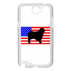 Australian Shepherd Silo Usa Flag Samsung Galaxy Note 2 Case (White)