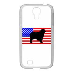 Australian Shepherd Silo Usa Flag Samsung GALAXY S4 I9500/ I9505 Case (White)