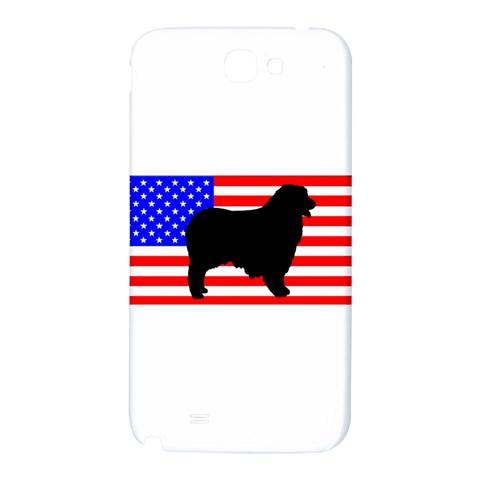 Australian Shepherd Silo Usa Flag Samsung Note 2 N7100 Hardshell Back Case