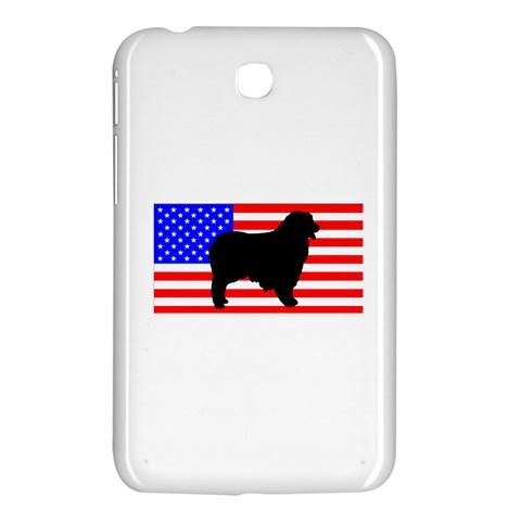 Australian Shepherd Silo Usa Flag Samsung Galaxy Tab 3 (7 ) P3200 Hardshell Case