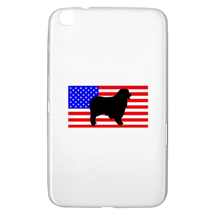 Australian Shepherd Silo Usa Flag Samsung Galaxy Tab 3 (8 ) T3100 Hardshell Case