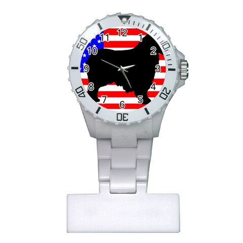 Australian Shepherd Silo Usa Flag Plastic Nurses Watch