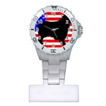 Australian Shepherd Silo Usa Flag Plastic Nurses Watch Front