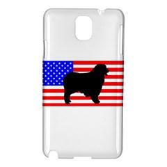 Australian Shepherd Silo Usa Flag Samsung Galaxy Note 3 N9005 Hardshell Case