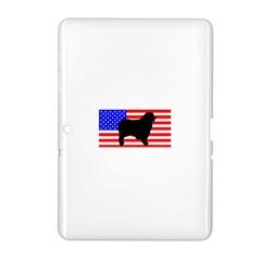 Australian Shepherd Silo Usa Flag Samsung Galaxy Tab 2 (10.1 ) P5100 Hardshell Case