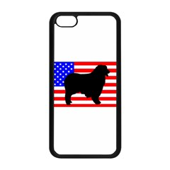 Australian Shepherd Silo Usa Flag Apple iPhone 5C Seamless Case (Black)
