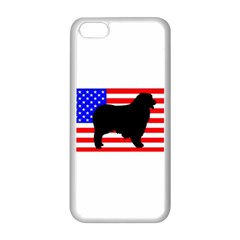 Australian Shepherd Silo Usa Flag Apple iPhone 5C Seamless Case (White)