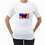 Australian Shepherd Silo Usa Flag Women s T-Shirt (White)  Front