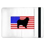 Australian Shepherd Silo Usa Flag Samsung Galaxy Tab Pro 12.2  Flip Case Front