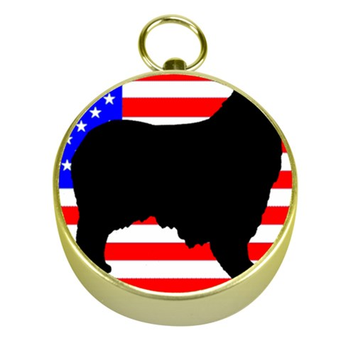 Australian Shepherd Silo Usa Flag Gold Compasses