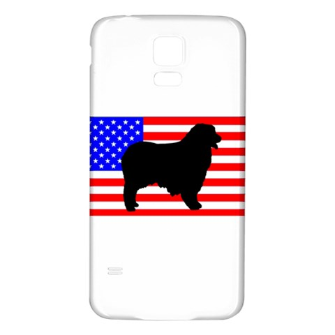 Australian Shepherd Silo Usa Flag Samsung Galaxy S5 Back Case (White)