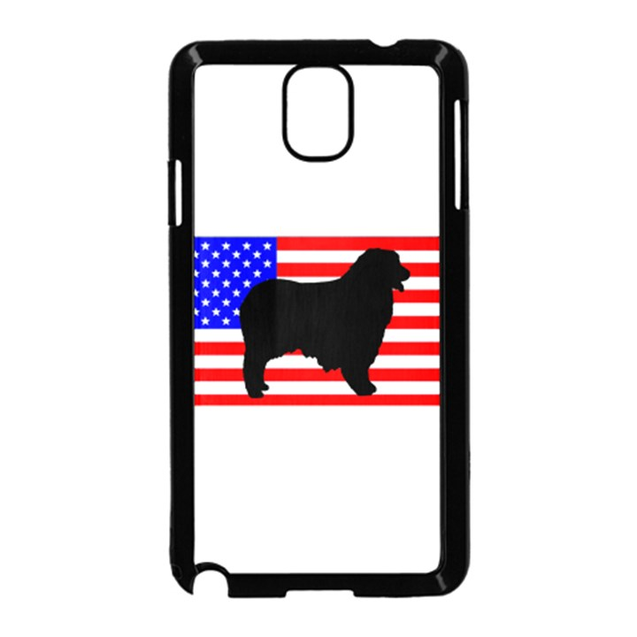 Australian Shepherd Silo Usa Flag Samsung Galaxy Note 3 Neo Hardshell Case (Black)