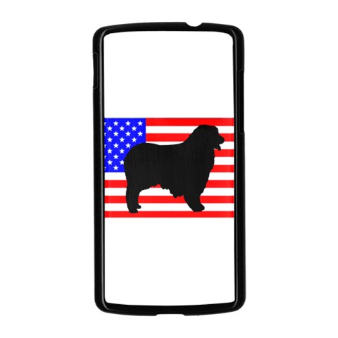 Australian Shepherd Silo Usa Flag Nexus 5 Case (Black)
