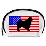 Australian Shepherd Silo Usa Flag Accessory Pouches (Large)  Front