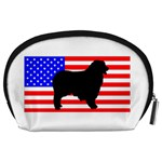 Australian Shepherd Silo Usa Flag Accessory Pouches (Large)  Back