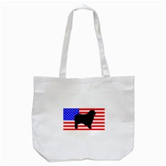 Australian Shepherd Silo Usa Flag Tote Bag (White)