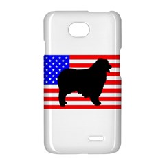 Australian Shepherd Silo Usa Flag LG Optimus L70