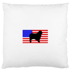 Australian Shepherd Silo Usa Flag Standard Flano Cushion Case (Two Sides)